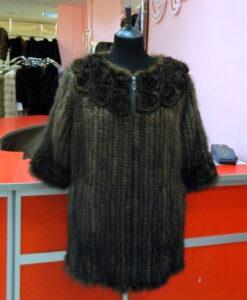 Жилетка из вязаной норки Вологда